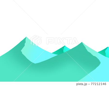 青くて幻想的な山々 77212146