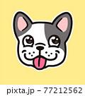 Cartoon French Bulldog face 77212562