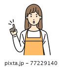 主婦 女性 ポーズ ひらめく 77229140