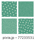 カエルとカタツムリの小紋柄, 77233531