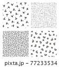 カエルとカタツムリの小紋柄, 77233534