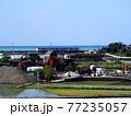太平洋が見える田園風景(春の香長平野 '21) 77235057