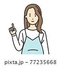 妊婦 ポーズ 指をさす 77235668