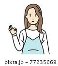 妊婦 ポーズ OK 77235669