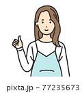 妊婦 ポーズ グッド 77235673