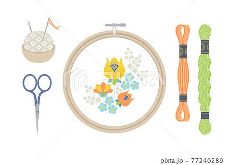 刺繍の道具 77240289