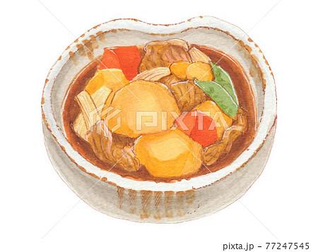手描き飲食メニュー 肉じゃが 77247545