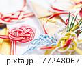 ご祝儀袋 水引細工のお祝いイメージ素材 77248067