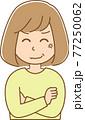 怒りを隠しきれない女性のイラスト 77250062