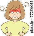 激怒している女性のイラスト 77250065