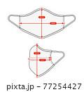 アパレル・ファッションコンテンツ用 サイズ表 ベクターイラスト / マスク 77254427
