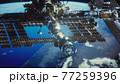 International Space Station. Elements of this image furnished by NASA 77259396
