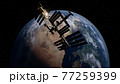 International Space Station in outer space over the planet Earth orbit 77259399