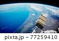 old wood box on Earth orbit 77259410