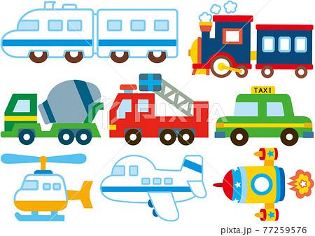乗り物 働く車 イラスト 素材 セット(その九) 77259576