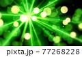 緑色の光の抽象背景素材 77268228