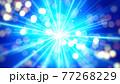 青色の光の抽象背景素材 77268229