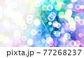 青色の抽象背景素材 77268237