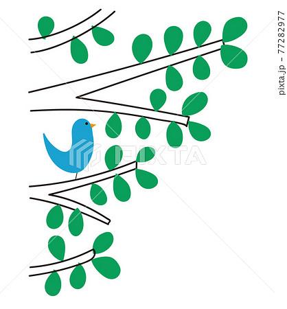 小鳥と木の装飾 77282977