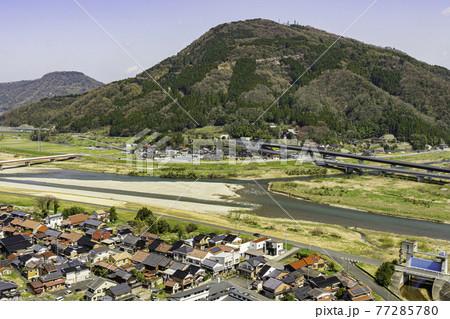 河原城 霊石山を望む 鳥取県鳥取市 77285780