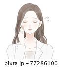 困っている女性医師 77286100