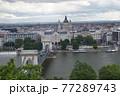 ハンガリー ブダペストの鎖橋と聖イシュトヴァーン大聖堂 77289743