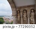 ハンガリー ブダペスト 漁夫の砦の内壁 77290352