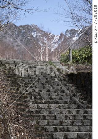 栃木県那須山の登山道入り口 77292019