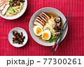 Ramen noodles with pork and egg 77300261