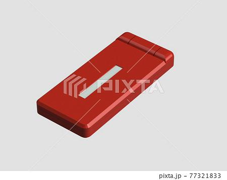 閉じたガラケー(携帯電話) 77321833