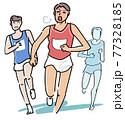 先頭を走ることで追われる苦しさ 77328185