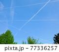 【ドイツ】フランクフルト 空 飛行機雲 77336257