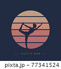 peace of mind yoga meditaion person at sunset graphic 77341524