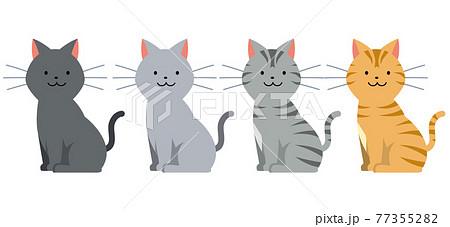 猫のイラスト素材 77355282