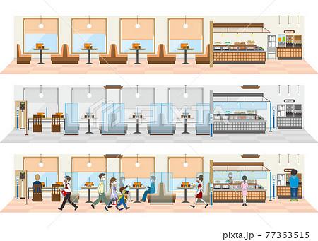 飲食店の感染対策 飲食店の新しいスタイル 77363515