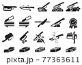 Good knife properties icon.  77363611