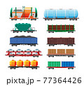 Set of train cargo wagons, cisterns, tanks, cars 77364426