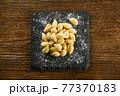 Heap of raw Italian gnocchetti sardi pasta 77370183
