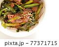 韓国風鳥レバーとにらのゴチュチャン炒め 77371715
