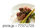 韓国風鳥レバーとにらのゴチュチャン炒め 77371720