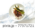 韓国風鳥レバーとにらのゴチュチャン炒め 77371721