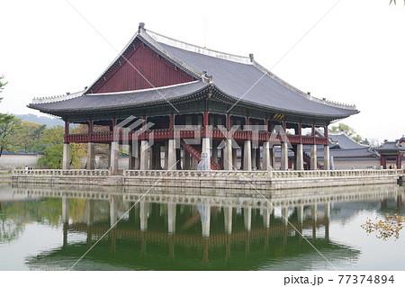 韓国 ソウル 景福宮 77374894