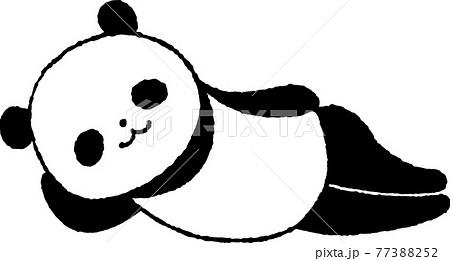 寝ころがるパンダ 77388252