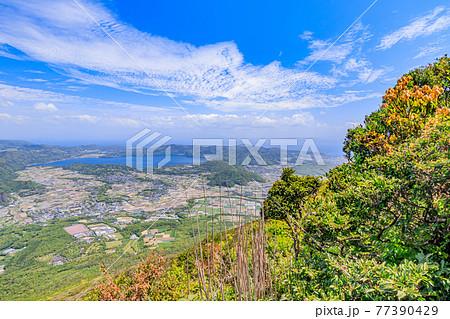 開聞岳9合目付近から見た景色 鹿児島県指宿市 77390429