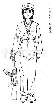 銃,GUN,ライフル,中国,女性兵士 77401493