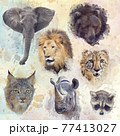 Digital Painting of animals background 77413027