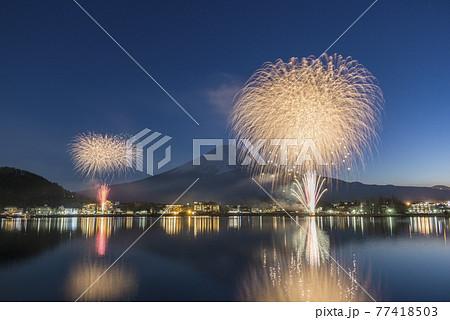 【山梨県河口湖】富士山と花火 77418503