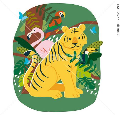 ジャングルの動物たち 77421394