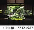 京都旧邸御室の緑風景 77421987