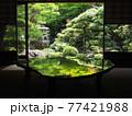 京都旧邸御室の緑風景 77421988